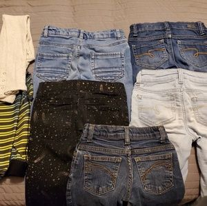 Lot of 8 Pants Girls 7 and size 8 $20